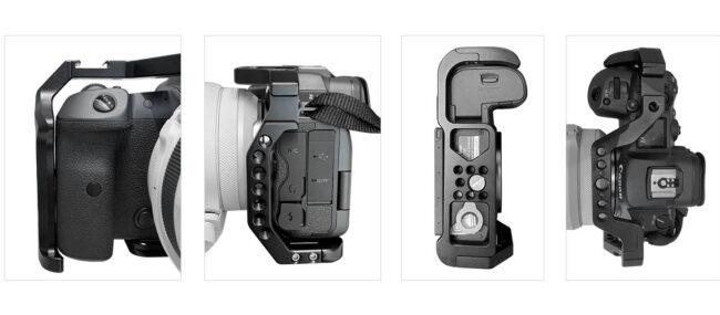Detalles de la jaula Camera Cage Leofoto Canon EOS R5