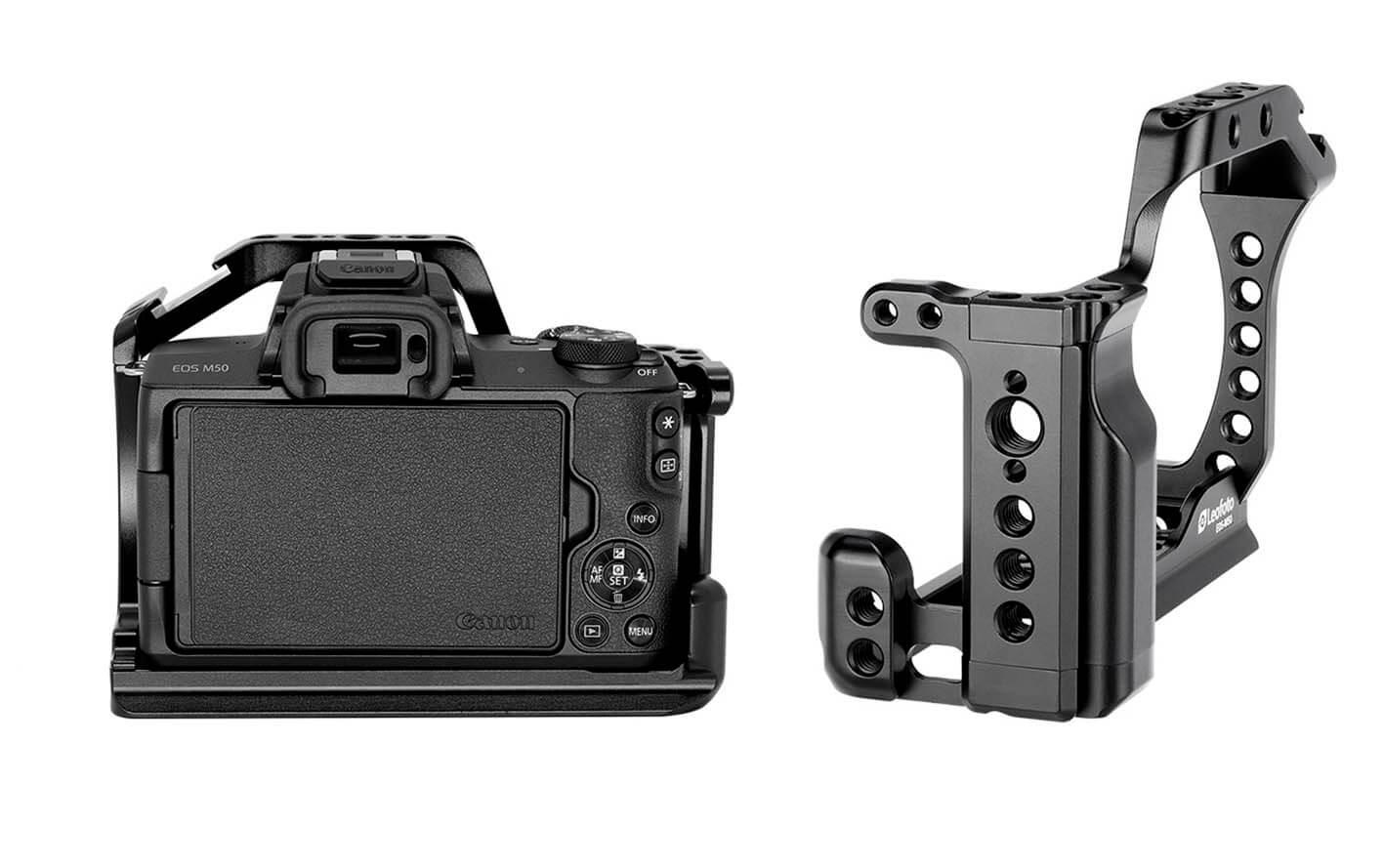 Camera Cage Leofoto para Canon EOS M50
