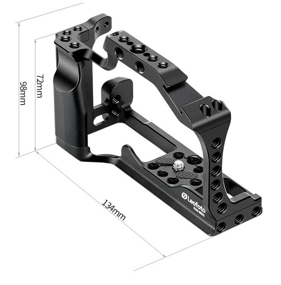 Dimensiones de la camera Cage Leofoto EOS M50 05