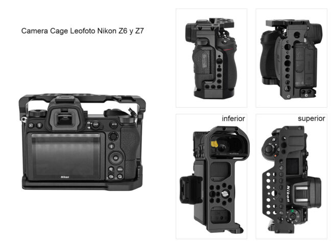 Vistas de la camera Cage Leofoto Nikon Z6-Z7