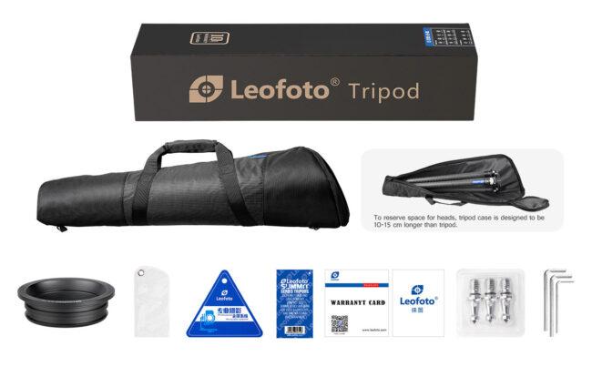 Trípode de carbono Leofoto LM-324CL Extra Alto y accesorios