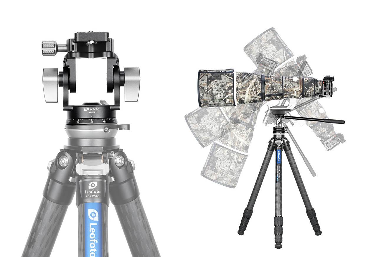 Leofoto LH-30 con mango para cámaras y teleobjetivos