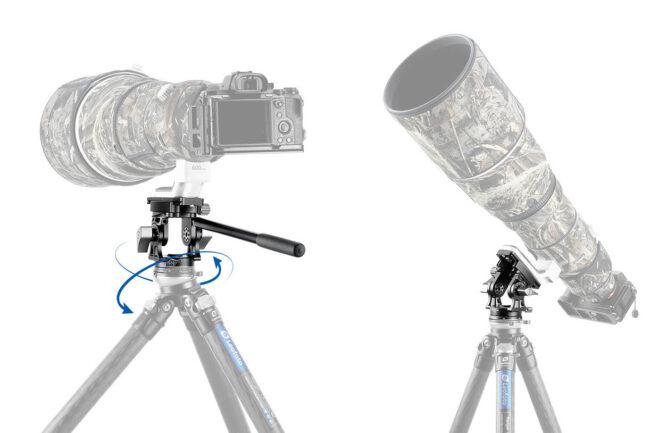 Leofoto LH-30 con mango de control para cámaras