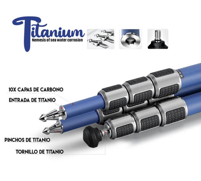Trípode profesional Leofoto Poseidón LP-324C con cierres de titanio