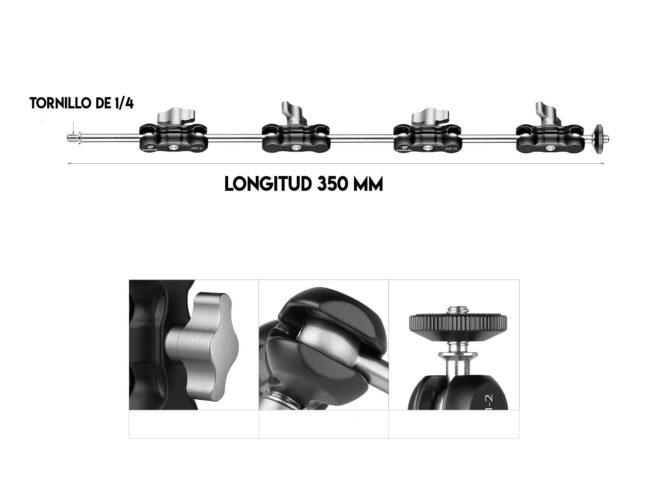 En aluminio aeronáutico y CNC el brazo AM-1XL