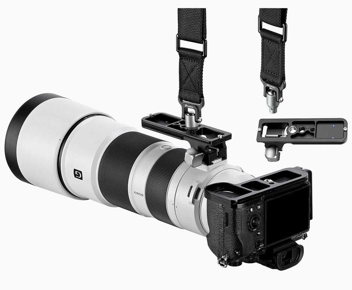 Leofoto SF-02 compatible con correas rápidas