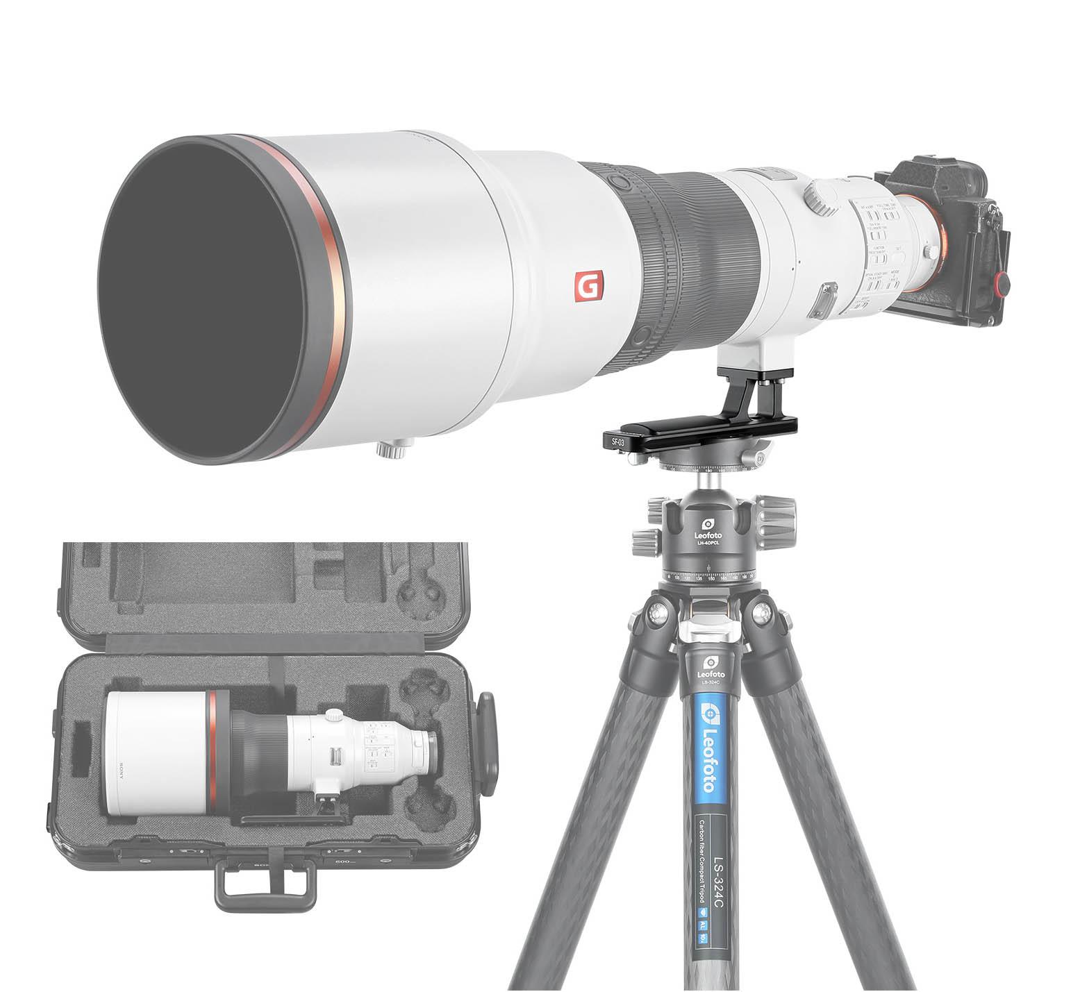 Zapata Leofoto SF-03 para objetivos Sony 400 y 600 mm Arca Swiss