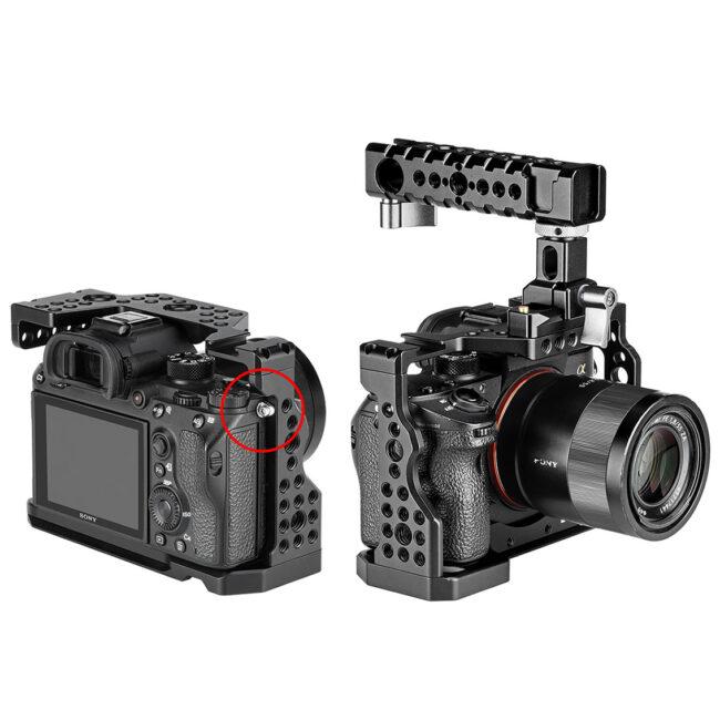 Camera Cage Leofoto para Sony A9, a7m3, a7r3