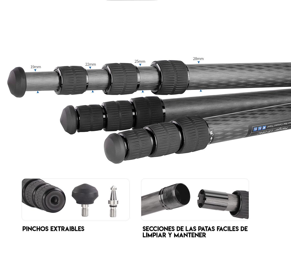 LS-284c-secciones de las patas