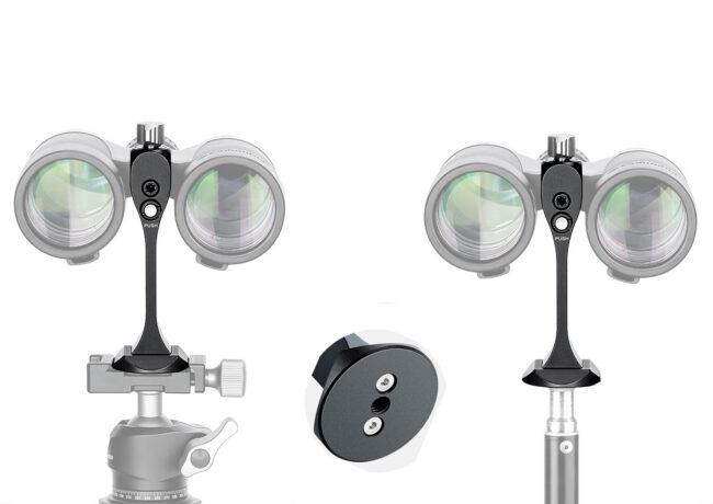 Soporte Arca de montaje rápido para prismáticos Leofoto BC-03