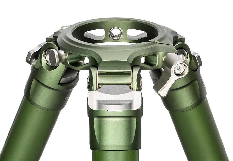 Trípode Leofoto LM-364CL verde con plataforma extraible de 75mm