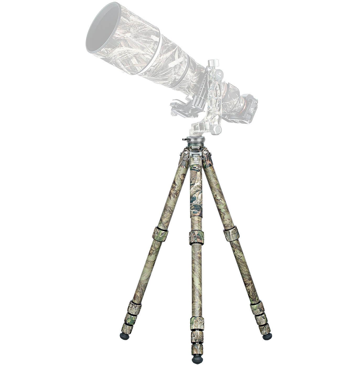 Trípode de carbono Leofoto LS-365CEX Full Camo con gimbal PG-1