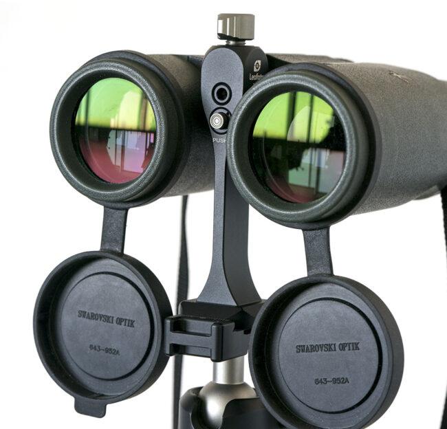 Tornillo Leofoto S2 y soporte BC-03 para prismáticos Swarovski