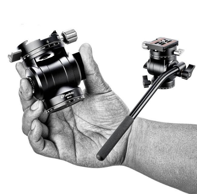 Cabeza fluida Leofoto BV-1R para cámaras de fotos y video de hasta 3 Kg