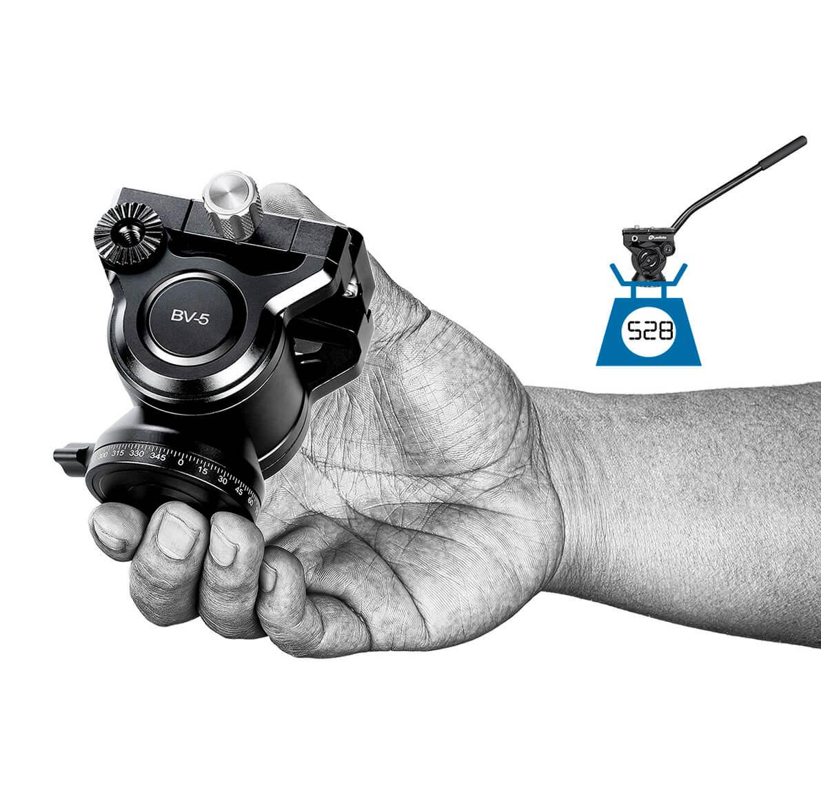 Cabeza Leofoto BV-5 fluida de pequeño tamaño para video y fotografía